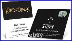 2021 Niue $2 Lord of the Rings Sauron 1 oz. 999 Silver Proof Coin 3,000 Made