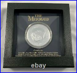 2021 Niue $2 Mermaid 1 oz. 999 Silver Proof Coin 500 Made Mint of Poland