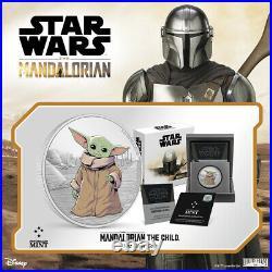 2021 Niue $2 Star Wars Mandalorian The Child Grogu 1 oz Silver Coin 2,000 Made