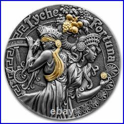 2021 Niue 2 oz Silver Antique Goddesses (Fortuna and Tyche) SKU#235284