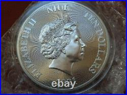 2021 Niue 5 oz. 9999 Silver Roaring Lion High Relief Only 1000 MINTED