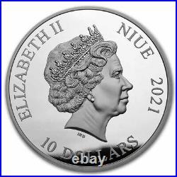 2021 Niue 5 oz Silver $10 Jurassic World BU Coin SKU#232011