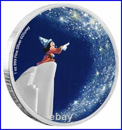 2021 Niue Disney Fantasia Sorcerers Apprentice 1 oz Silver Proof Coin SOLD OUT
