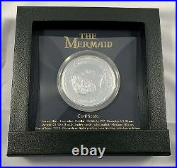 2021 Niue Mermaid 1 oz. 999 Silver Colorized Proof Coin Mint of Poland