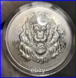 2021 Niue Roaring Lion 5 oz Silver High Relief Coin BU IN STOCK