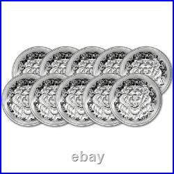 2021 Niue Silver Roaring Lion Head 1 oz $2 BU Ten 10 Coins
