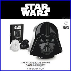 2021 Niue Star Wars Faces of the Empire DARTH VADER Mask Helmet 1oz Silver Coin