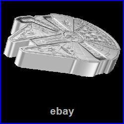 2021 Niue Star Wars MILLENNIUM FALCON Shaped Coin 1oz Silver