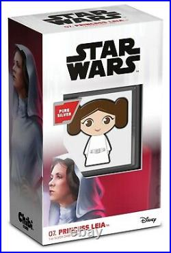 2021 Niue Star Wars Princess Leia CHIBI 1oz Silver Proof Coin SOLD OUT