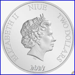 2021 Niue The Mandalorian Cara Dune 1 oz Colored Silver Proof Coin PRESALE
