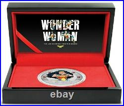 2021 Niue WONDER WOMAN 1 oz Colorized Silver Proof Coin 80th Anniversary