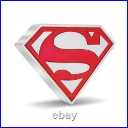2021 SUPERMAN Shield 1 oz. 999 Silver Proof $2 Coin Niue DC Comics IN STOCK