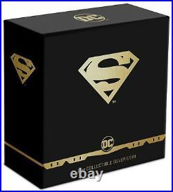 2021 SUPERMAN Shield Logo 1 oz. 999 Silver Proof $2 Coin Niue DC Comics OGP