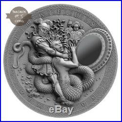 2$ Perseus 2 Oz Niue 2019 Demigods silver coin including Crystalline Silicon