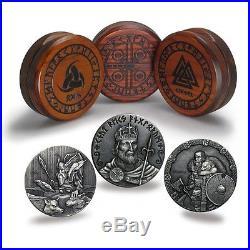 2 oz Viking Coin set $2 Niue Serial#1265