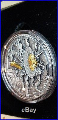 2x Niue 2017 ARES GOD OF WAR series 2018 Poseidon High Relief 2 oz Coin amazing