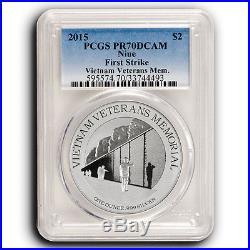 40 Coin Lot 2015 NIUE PCGS PR70 FS America's Monuments 1 oz Pure Silver Coins