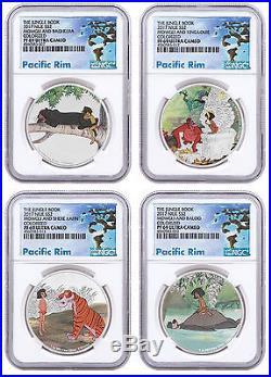 4-Coin Set 2017 Niue Disney Jungle Book Silver PF $2 Coin NGC PF69 UC SKU48518