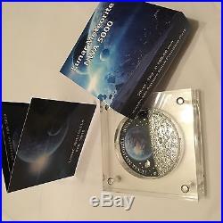 50 NZ $ Niue 2015 Lunar Meteorite NWA 5000 1 KG AG with piece of a METEORITE