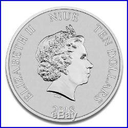 5 Unzen Niue Turtle 2018 Silbermünze New Zealand Mint Prägerfrisch