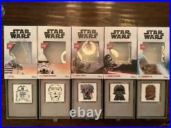 5-coin 2020 Chibi Darth Vader Chewbacca R2d2 Stormtrooper Boba Fett 1 Oz Silver