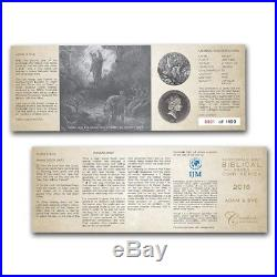 ADAM AND EVE 2016 2 oz Silver Coin Biblical Series Scottsdale Mint Niue