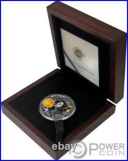 AMATERASU Divine Faces Of The Sun 3 Oz Silver Coin 5$ Niue 2021