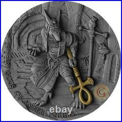 ANUBIS Gods of Anger 2 Oz Silver Coin 5$ Niue 2019