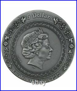 APHRODITE AND VENUS Strong and Beautiful Goddesses 2 Oz Silver Coin 5$ Niue 2020