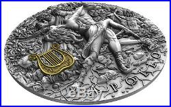 APOLLO God Of The Sun Gods 2 oz Silver High Relief Coin Niue 2020