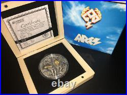 ARES GOD OF WAR series NIUE $2 Silver Coin 2017 Gold plated 2 oz niue