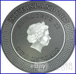 ARES God Of War Gods 2 Oz Silver Coin 2$ Niue 2017