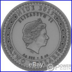 ARTEMIS Itgoddesses 2 Oz Silver Coin 2$ Niue 2019