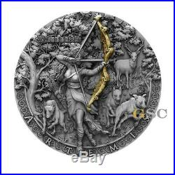 ARTEMIS the Greek Goddess 2$ 2oz. 999 fine silver coin Niue 2019