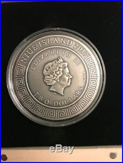 Ares God of War 2017 Niue Island $2 Silver Coin, GODS Series