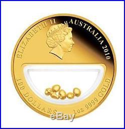 Australia 2010 100$ Treasures Of Australia Gold 1oz Gold Proof Locket Coin