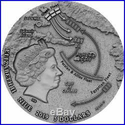 BATTLE OF SALAMIS Sea Battles 2 oz Silver Coin Niue