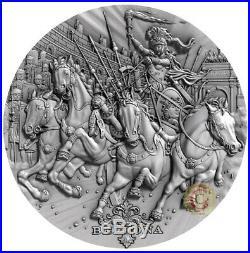BELLONA ROMAN GODS 2 Oz Silver Coin 2$ Niue 2018