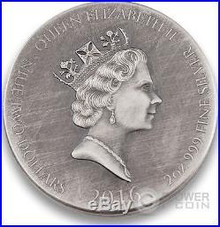 BJORN IRONSIDE Vikings Gods Kings Warriors 2 Oz Silver Coin 2$ Niue 2016