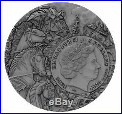 BLACK HORSE Four Horsemen Of The Apocalypse 2 oz Silver Coin Niue