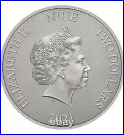 Batman 1989 BatMobile 1 oz Silver Coin 2021 Niue Second Coin Box COA SHIP TODAY