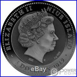 CHARIOT Warfare Gold Plating 2 Oz Silver Coin 5$ Niue 2019