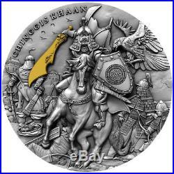 CHINGGIS KHAAN 2 Oz Silver Coin 5$ Niue 2019 PRESALE