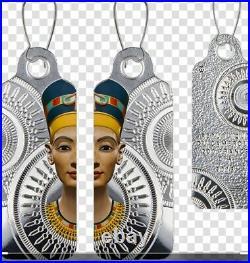 Cameroon 2018 Egyptian Queen Nefertiti Earrings 200 Francs Silver Coin