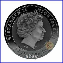 Chariot 2 Oz Silver Coin 5$ Niue 2018