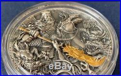 Coa #36 Guan Yu Chinese Heroes 5 Dollars 2 Oz Silver Coin Niue 2019
