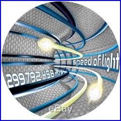 Code of the Future Speed of Light $2 2oz Silver Coin Fluorescent Niue 2016