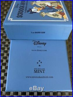 D23 Expo 2015 Niue Silver 1oz Coin Disney Duck Tales Scrooge McDuck LE 6/10000