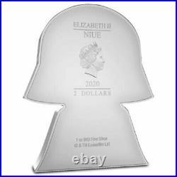 DARTH VADER Star Wars Chibi 1 Oz Silver Coin 2$ Niue 2020 NEW