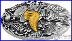 DR PESTILENCE MASK 2 Oz Silver Coin 5$ Niue 2019
